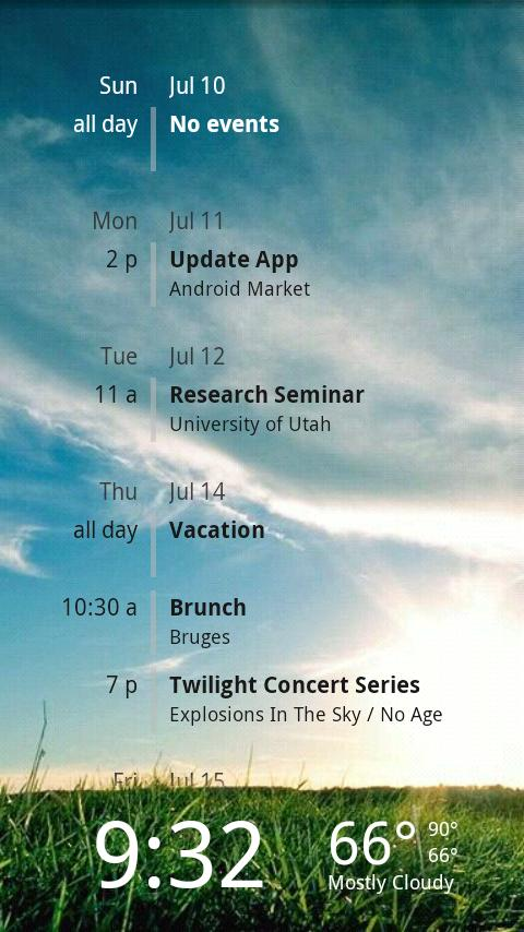 Lockscreen Agenda Free - screenshot