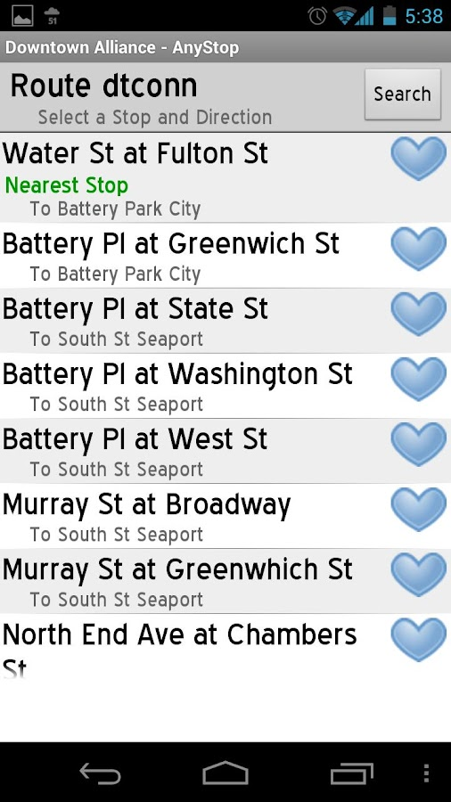 NY Downtown Connection AnyStop - screenshot