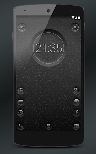 7null clock zooper widget- screenshot thumbnail
