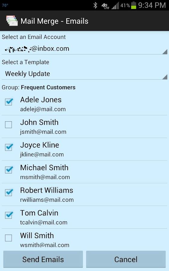 Mail Merge- screenshot