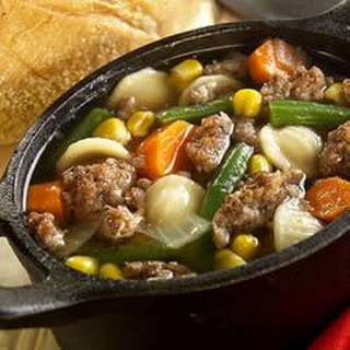 "Savory Sage Sausage and Vegetable ""Stoup"""