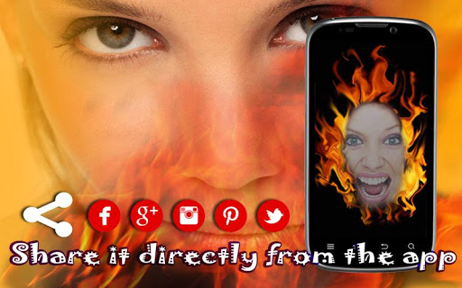 Fire Photo Stickers