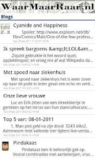WaarMaarRaar.nl - screenshot thumbnail