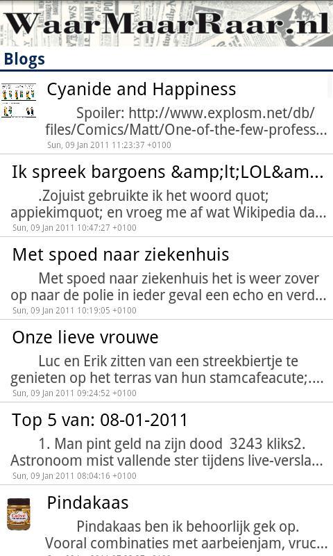 WaarMaarRaar.nl- screenshot