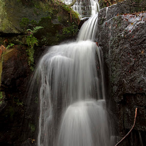 lumsdale falls 1 by Ray Heath - Landscapes Waterscapes ( colour, uk, waterfalls, lumsdale falls, autumn, matlock, white water, derbyshire,  )