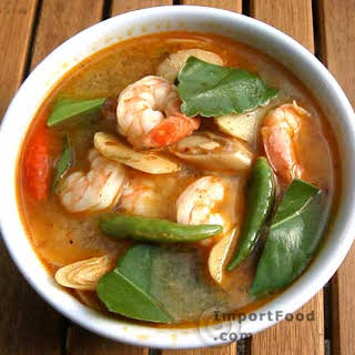 Thai Prawn Soup with Lemongrass, 'Tom Yum Goong'.