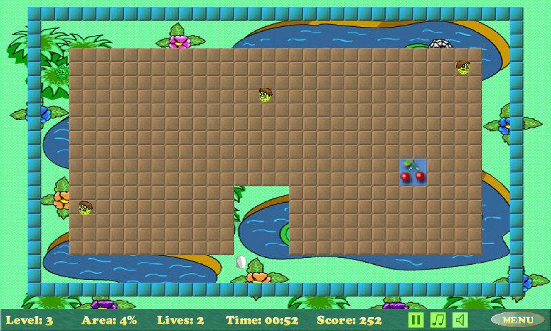 Xonix- screenshot