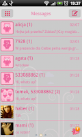 Screenshot of GO SMS Pro Pink Owl Theme