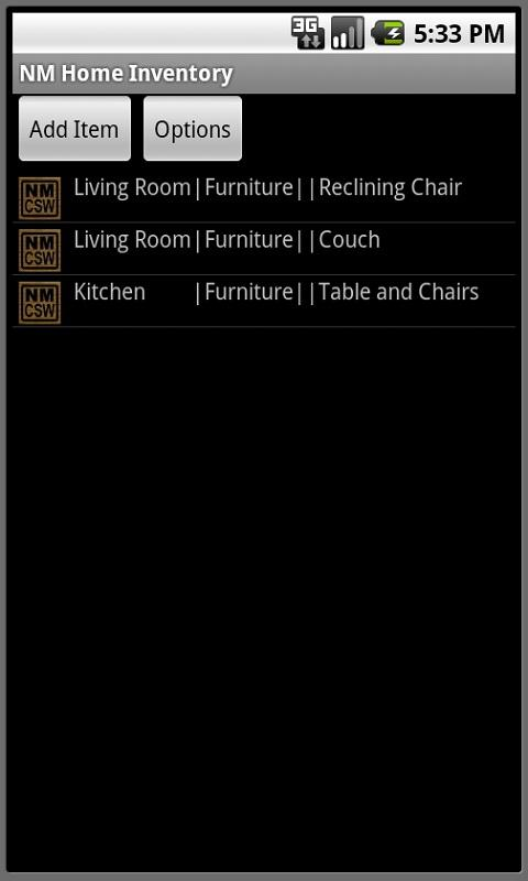 NM Home Inventory Software - screenshot
