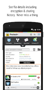 Protect+ MP3/WAV Voice Recorder w/ Encryption Free - náhled