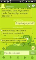 Screenshot of GO SMS Pro Frog Theme Free