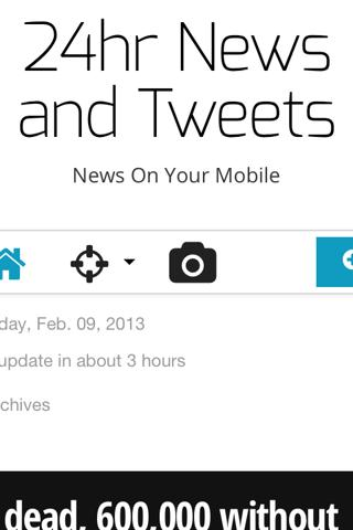 24hrs News and Tweets - screenshot
