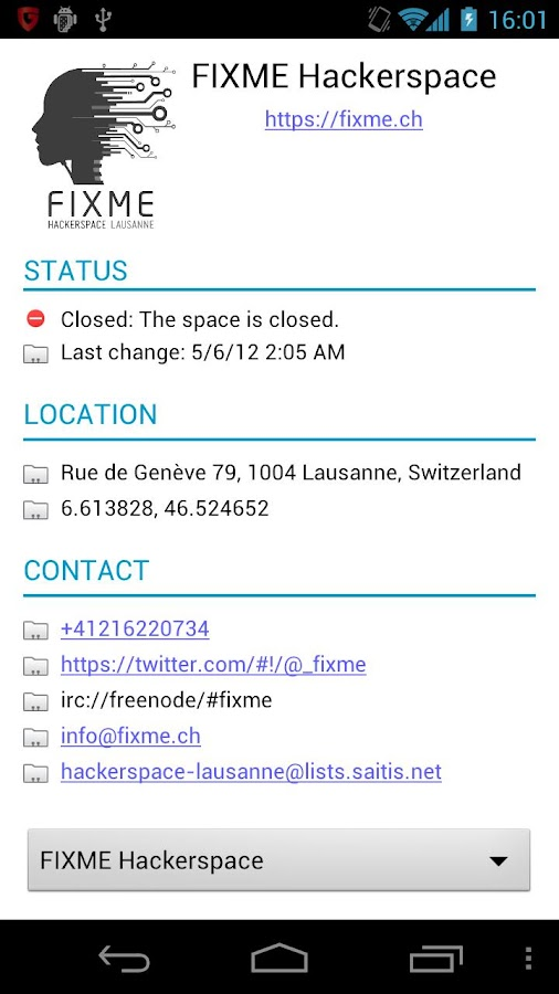 My Hackerspace - screenshot