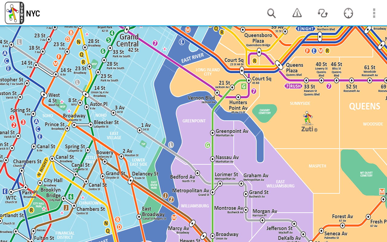New York Subway Free By Zuti Android Apps On Google Play - Nyc map soho