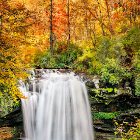 Dry Falls by Charles Hardin - Landscapes Waterscapes ( mountains of western north carolina, highland nc, mountainscapes, waterfalls, waterfalls of wnc, fall foliage, waterfalls of nc, autumn in the carolinas, landscape, north carolina, dry falls, western north carolina, charles hardin, waterfalls of western north carolina, charles k. hardin photography, nc, autumn, fall, outdoors, the great outdoors )