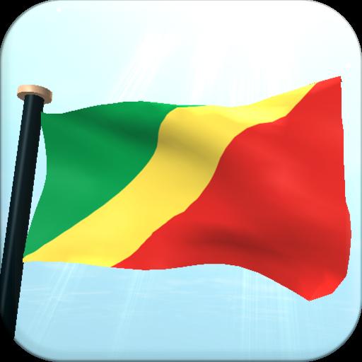 剛果共和國旗3D免費動態桌布 個人化 App LOGO-硬是要APP