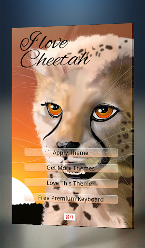 I Love Cheetah Keyboard