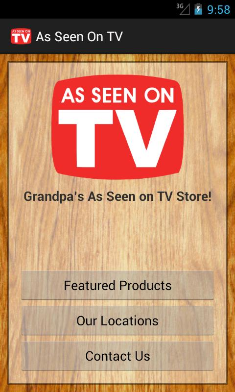 As Seen On TV Store- screenshot