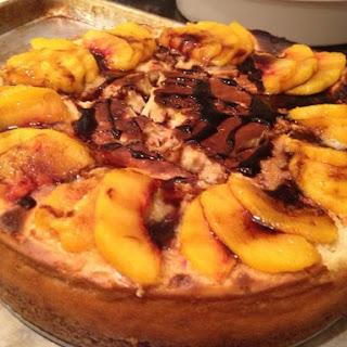 Balsamic Peach Cheesecake.