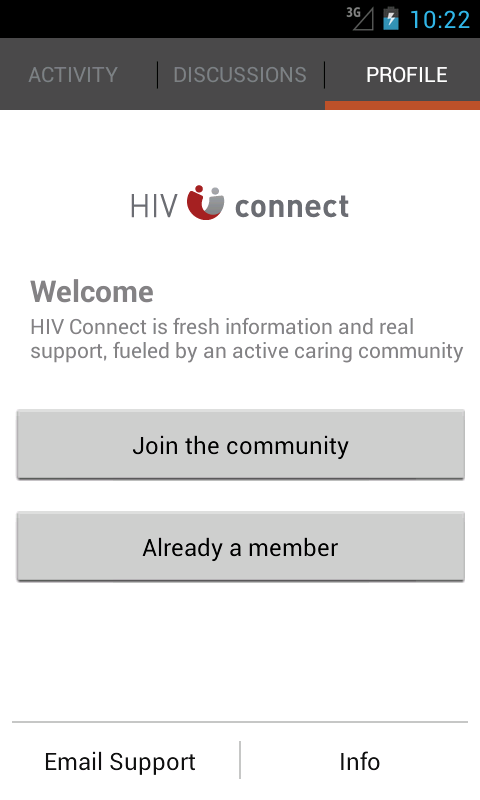 HIV Connect - screenshot