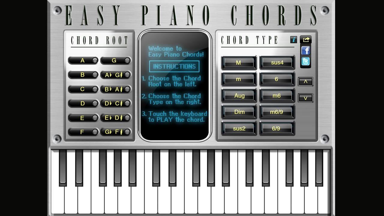 Easy piano chords android apps on google play easy piano chords screenshot hexwebz Image collections