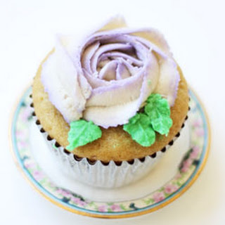 Vegan Vanilla Rose Cupcakes