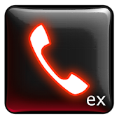 ExDialer theme Red Neon Glass