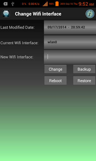 Change WiFi Interface