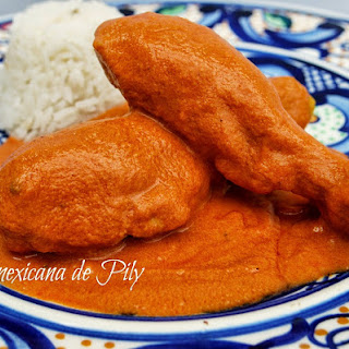 Encacahuatado Spicy Peanut Sauce with Chicken.
