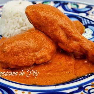 Encacahuatado Spicy Peanut Sauce with Chicken.