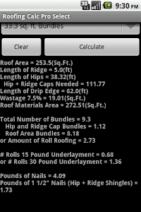 Roofing Calc Pro Select screenshot 4