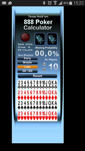 Poker Calculator for 888 Poker