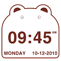 Cute Bear Clock Widget icon