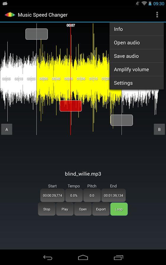 Music Speed Changer Pro- screenshot