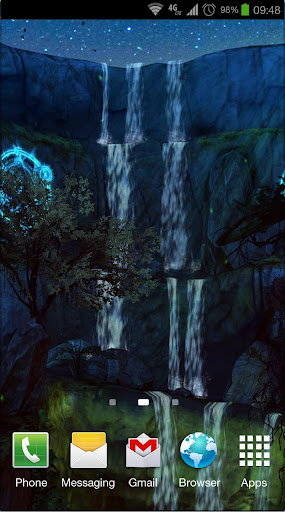 3D Waterfall: Night Edition