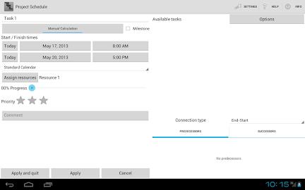 Project Schedule Screenshot 9