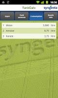 Screenshot of Syngenta TankCalc