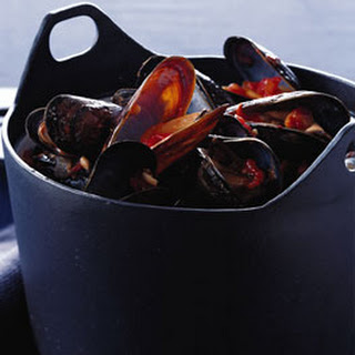 Mussels with Tomato Broth.