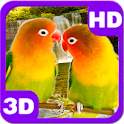 Lovebirds Kissing Parrots Pair icon