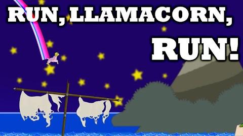 Llama Unicorn vs Rainbow World Screenshot 3