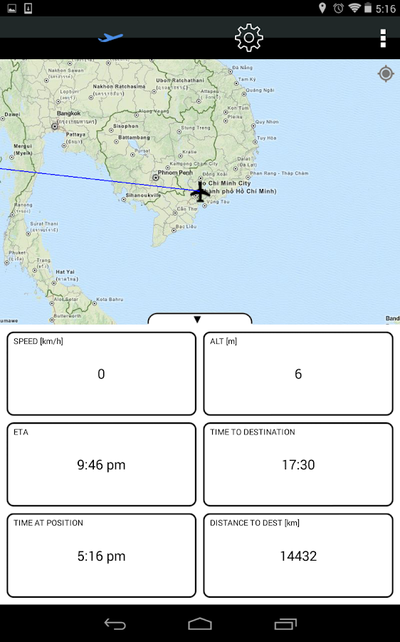 Flight Map - screenshot