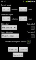 Screenshot of Contacts Grid