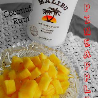 Coconut Rum Soaked Pineapple.