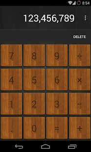 Calculator Wood