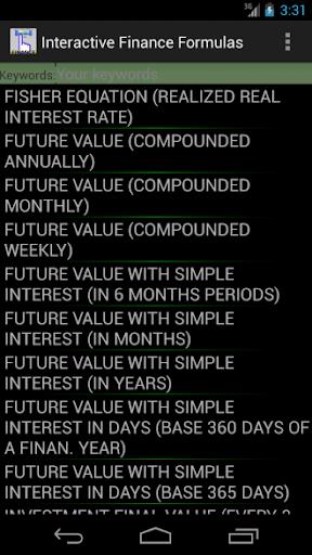 Finance Formulas