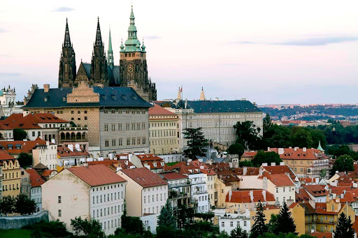 Prague Castle in Prague. Dating back to the ninth century, the castle is still the official residence and office of the Czech Republic's president.