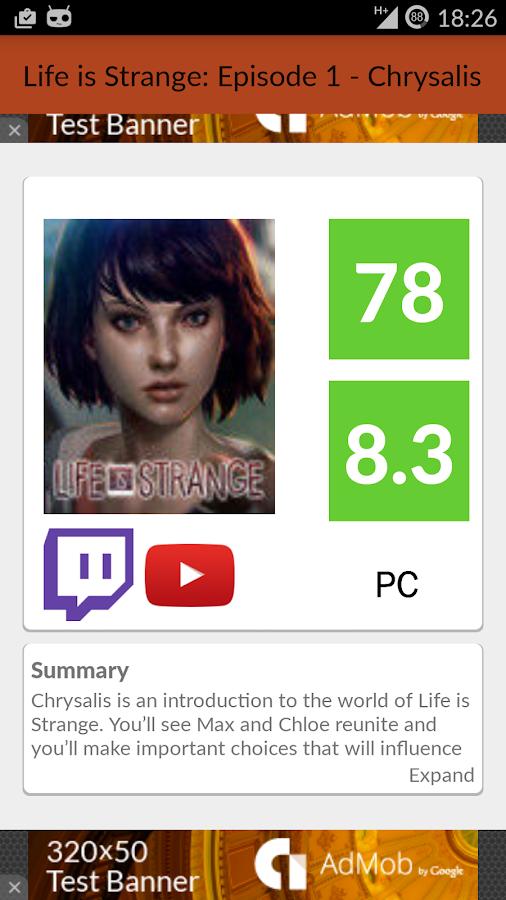 GamePlan: Games on Metacritic - screenshot