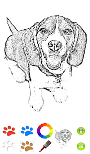 Dog Coloring Book- screenshot thumbnail