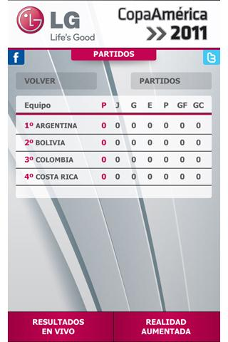 Copa America 2011- screenshot