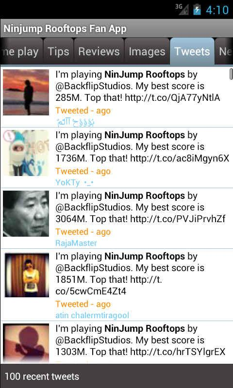 Ninjump Rooftops Fan App - screenshot